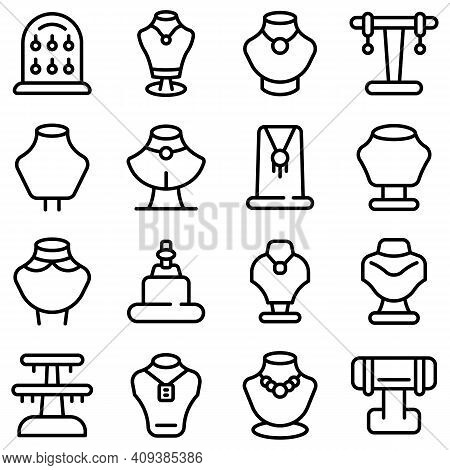 Jewelry Dummy Icon. Outline Jewelry Dummy Vector Icon For Web Design Isolated On White Background