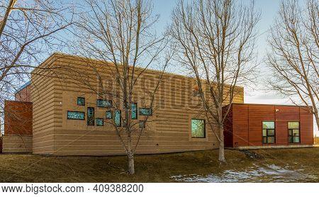 Denver, Colorado - January 31, 2021: Aish Denver - Orthodox Synagogue In Greenwood Village, Colorado