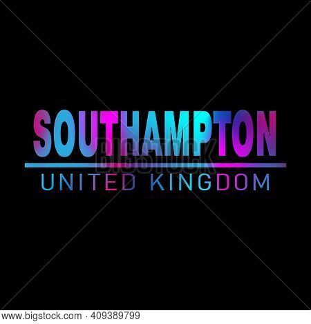 Southampton. Colorful Typography Text Banner. Vector The Word Southampton Design. Can Be Used To Log