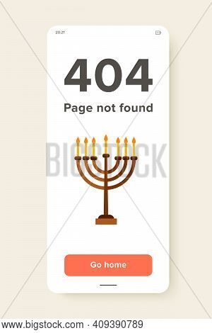 Multicolored Vector Icon Of Jewish Menorah With Seven Candles