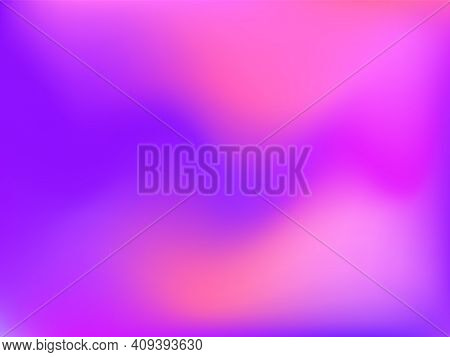 Holographic Background. Bright, Smooth Mesh With A Blurry Futuristic Pattern. Trendy Advertising Vec