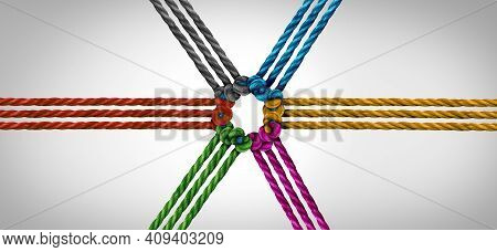 Group Trust Partnership And Concept Of Team Partner And Unity Or Teamwork Idea As A Business Metapho