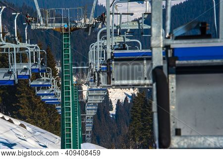 Chairlift And Snow One