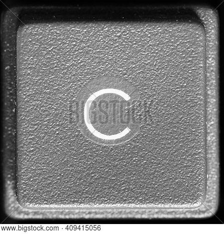 Letter C Key On Computer Keyboard Keypad