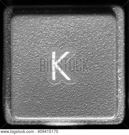 Letter K Key On Computer Keyboard Keypad