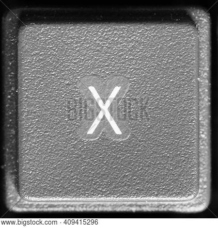 Letter X Key On Computer Keyboard Keypad