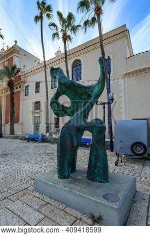 Tel Aviv, Israel - December 28, 2015: Modern Sculpture In Yaffo