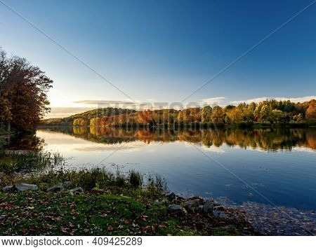 Keystone Lake In Keystone State Park In West Moreland County In The Laurel Highlands Of Pennsylvania