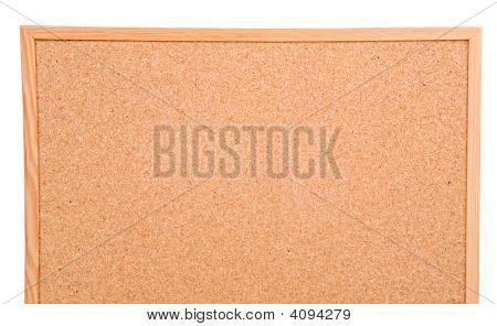 Foto von einem leeren Cork board