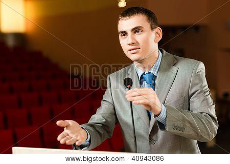 male speaker