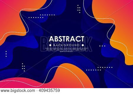 Abstract Dynamic Wavy Colorful Blue Orange Gradient Textured Style Background Design. Eps10 Vector