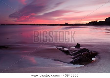 Red Sunset At Blyth Beach