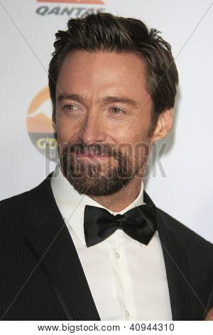 LOS ANGELES - JAN 12:  Hugh Jackman arrives at the 2013 G'Day USA Los Angeles Black Tie Gala at JW Marriott on January 12, 2013 in Los Angeles, CA..