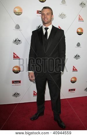 LOS ANGELES - JAN 12:  Jesse Spencer arrives at the 2013 G'Day USA Los Angeles Black Tie Gala at JW Marriott on January 12, 2013 in Los Angeles, CA..