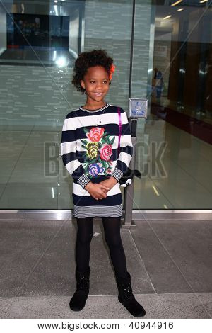 LOS ANGELES - JAN 12:  Quvenzhane Wallis arrives at the 2013 Film Inependent nominees brunch at BOA Steakhouse on January 12, 2013 in West Hollywood, CA
