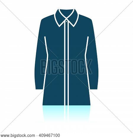 Business Blouse Icon. Shadow Reflection Design. Vector Illustration.