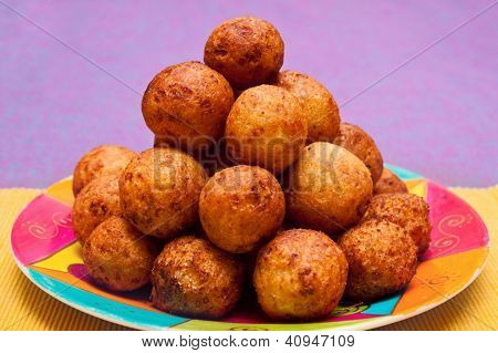 Cheese Balls On Plate