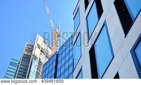 Warsaw, Poland. 22 February 2021. Construction Site Of An Varso Place Office Building.