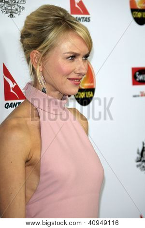LOS ANGELES - JAN 12:  Naomi Watts arrives at the 2013 G'Day USA Los Angeles Black Tie Gala at JW Marriott on January 12, 2013 in Los Angeles, CA..