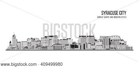 Cityscape Building Abstract Simple Shape And Modern Style Art Vector Design -  Syracuse City