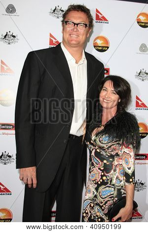 LOS ANGELES - JAN 12: Luc Longley, Anna Gare at the 2013 G'Day USA Los Angeles Black Tie Gala at JW Marriott on January 12, 2013 in Los Angeles, California