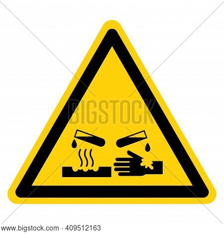 Corrosive Material Symbol ,vector Illustration, Isolate On White Background Label. Eps10