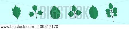 Set Of Poison Ivy Cartoon Icon Design Template With Various Models. Modern Vector Illustration Isola