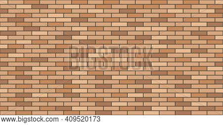 Brick Wall Texture. Wall Masonry Seamless Pattern, Background For House Exterior Facade Decor. Flat