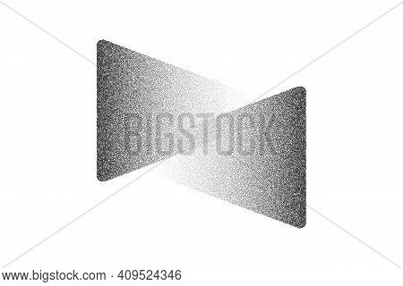 Dotwork Arrows Pattern Vector Background. Sand Grain Effect. Black Noise Stipple Dots. Abstract Nois