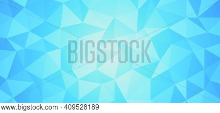 Abstract Blue Background From Polygon And Triangle