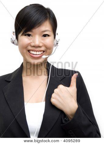 Thumb Up Friendly Customer Representative