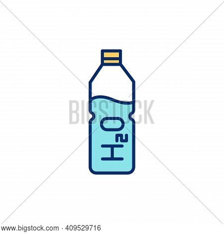 Drinking Enough Water Rgb Color Icon. Own Water Bottle. Increasing Energy Levels And Brain Function.