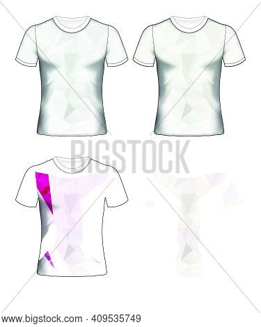 T-shirt Templates Abstract Geometric Collection Of Different Colors Polygonal Mosaic