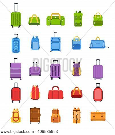 Flat Suitcases. Luggage And Handle Bags, Backpacks, Leather Case, Travel Suitcase And Bag For Trip,
