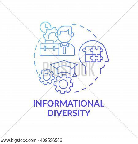 Informational Diversity Concept Icon. Top Management Diversity Types. Recognize Individual Differenc