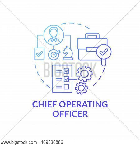 Chief Operating Officer Concept Icon. Top Management Positions. Check Administrative Functions Of Or