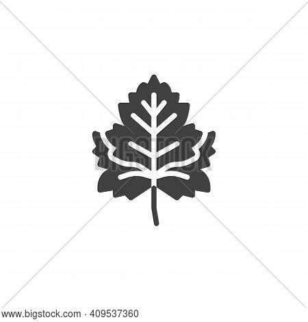 Parsley Herb Vector Icon. Filled Flat Sign For Mobile Concept And Web Design. Parsley Leaf Glyph Ico