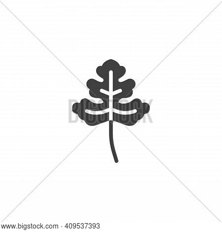 Cilantro Herb Vector Icon. Filled Flat Sign For Mobile Concept And Web Design. Coriander Leaf Glyph