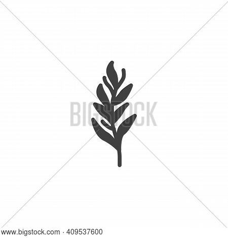 Tarragon Herb Vector Icon. Filled Flat Sign For Mobile Concept And Web Design. Tarragon Branch Glyph