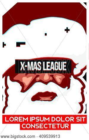 Christmas Theme Santa Claus League Esport Match Poster Illustration