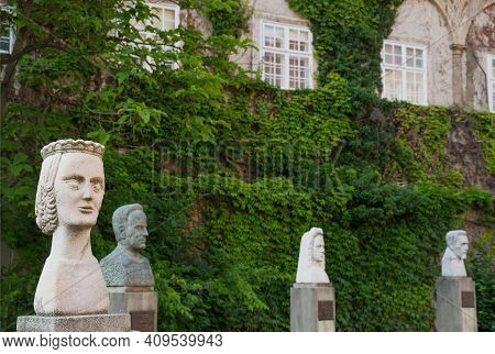 Graz/austria - June 22, 2019: Windows And Ivy In The Graz Castle Courtyard, Former Imperial Residenc