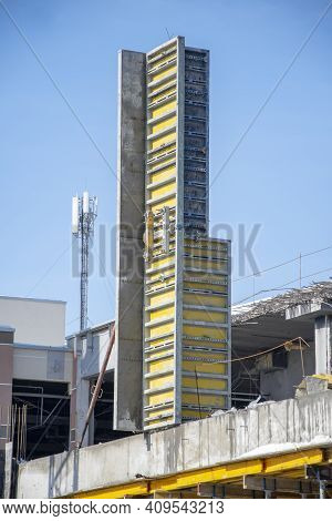 Construction Of High-rise Buildings, Concrete Formwork, Rebar Frame 1.