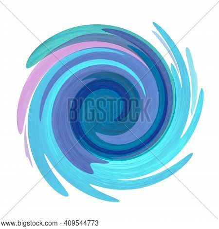 Twisted Swirl Colorful Purple Teal Blue Green Color Stain Background. Swirls Illustration. Banner Fr
