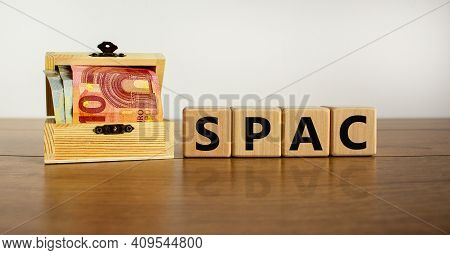 Spac, Special Purpose Acquisition Company Symbol. Wooden Cubes With Word 'spac' On Beautiful White B