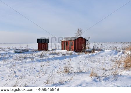 Winter View By The Coast Of The Swedish Island Oland In The Baltic Sea