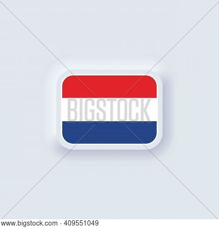 Flag Of Netherlands. National Netherlands Flag. Vector Illustration. Eps10. Simple Icons With Flags.