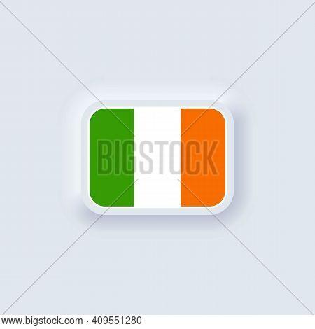 Flag Of Ireland. National Ireland Flag. Irelandian Symbol. Vector Illustration. Eps10. Simple Icons