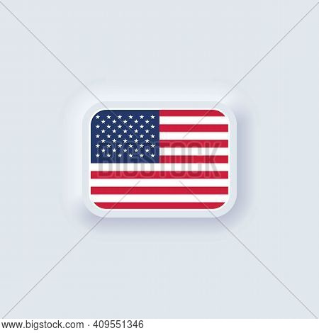 Flag Of United States. National Usa Flag. American Symbol. Vector Illustration. Eps10. Simple Icons