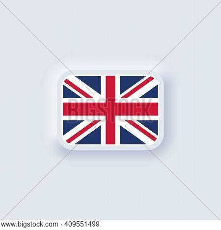 Flag Of United Kingdom. National United Kingdom Flag. United Kingdom Symbol. Vector Illustration. Ep