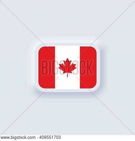 Flag Of Canada. National Canada Flag. Canadian Symbol. Vector Illustration. Eps10. Simple Icons With